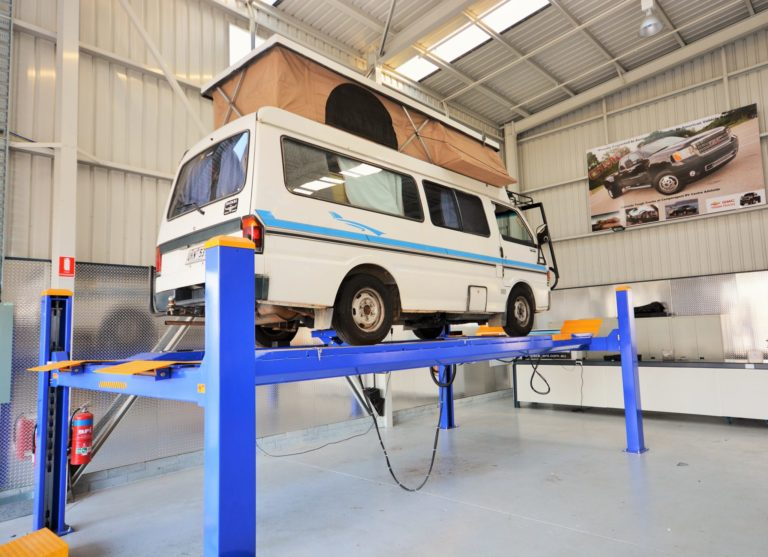 Camperagent RV Hoist tyre fitting