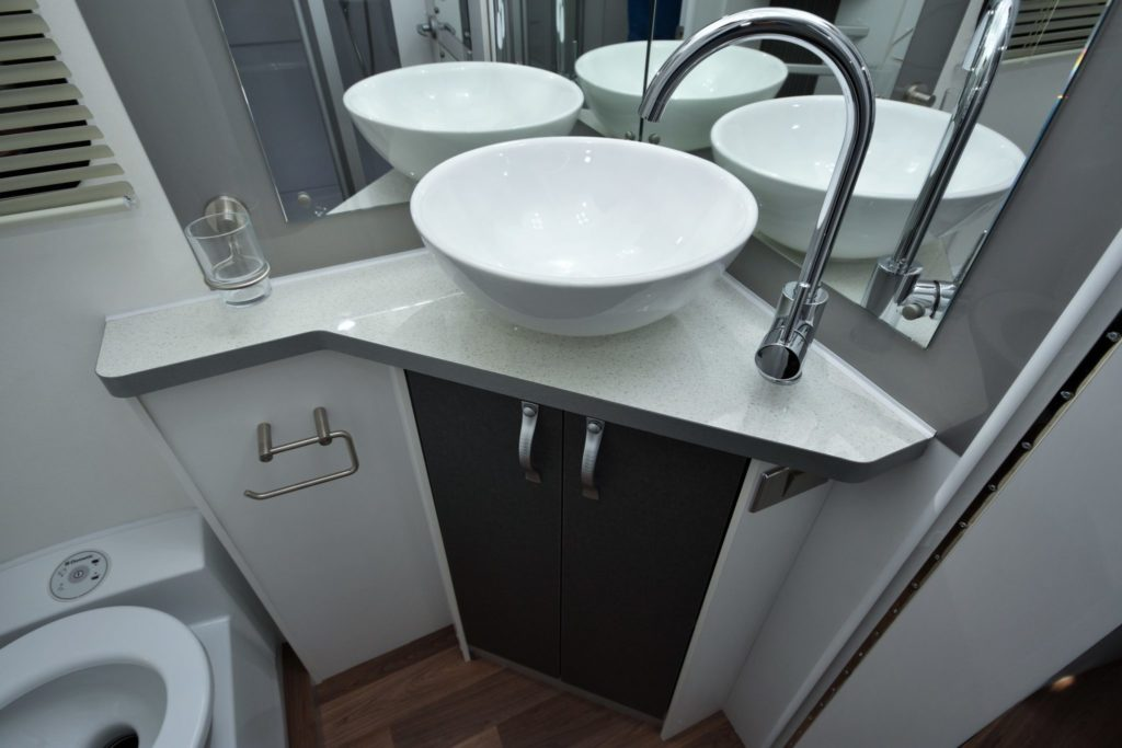 motorhome with shower and toilet