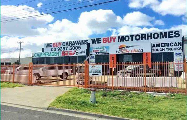 Camperagent Hitchhika Factory Melbourne - We Buy Caravans and Motohomes